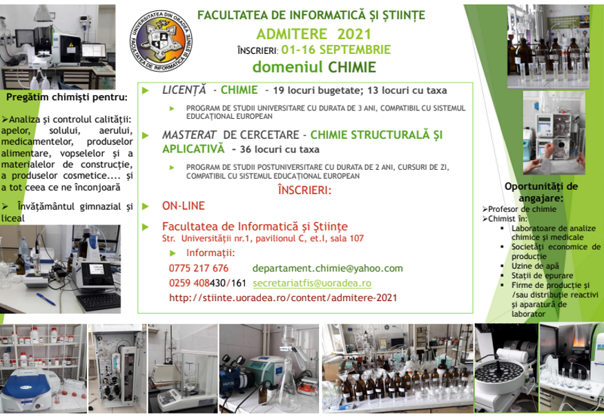 Admitere Chimie